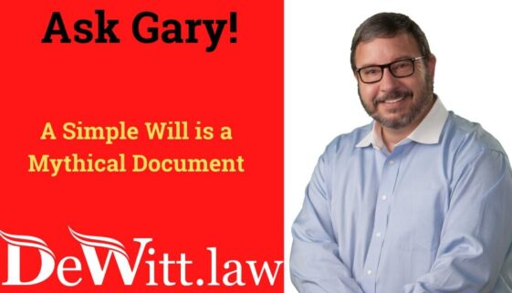 simple will is a mythical document